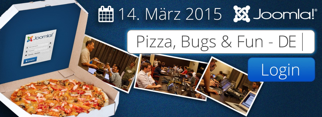 14.03.2015 - A German Pizza, Bugs and Fun event - everyone is invited!