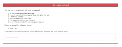 Creating a custom error page for your Joomla site