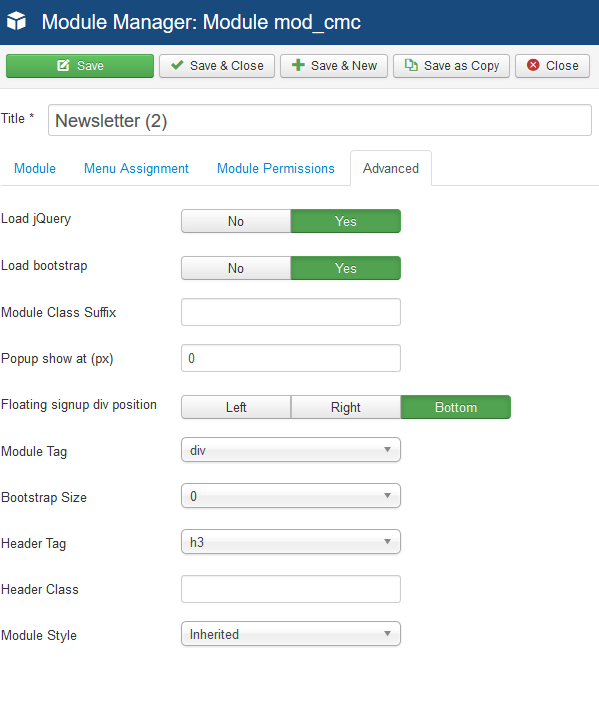 CMC - MailChimp for Joomla! - compojoom com