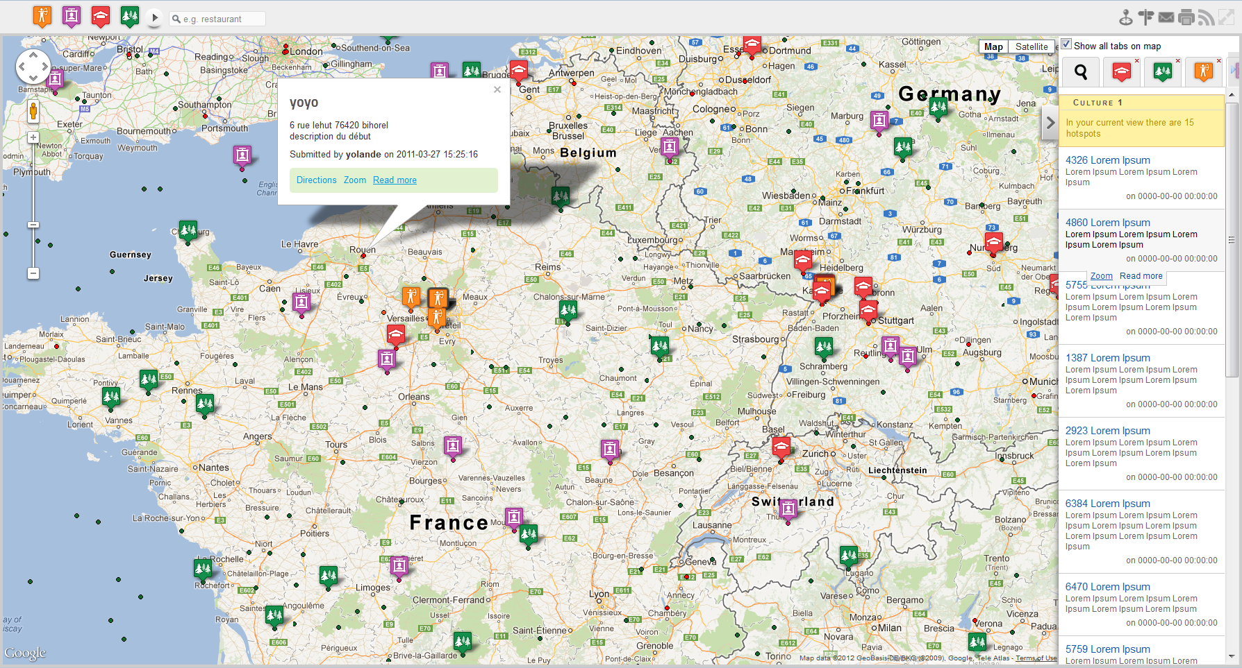 Google Maps Component For Joomla Hotspots Compojoomcom - Colors in google maps